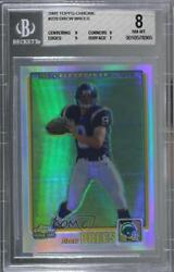 2001 Topps Chrome Refractor /999 Drew Brees 229 Bgs 8 Rookie
