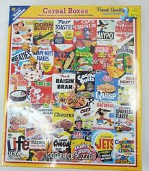 White Mountain 1000 Piece Puzzle General Mills Vintage Cereal Boxes Jigsaw New
