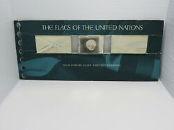 Rare 1974 Flags Of Un Solid Sterling Silver 1st Edition Proofs Japan Jamaica +
