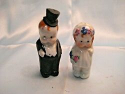 Small Bride And Groom Figurines-salt And Pepper 3 High