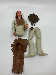 Vintage Marx Johnny West Indian Geronimo For Parts With Accessories