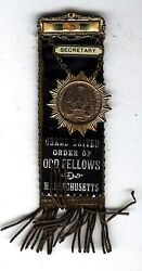 Grand United Order Of Odd Fellows Massachusetts Secretary Badge African American