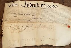 1745 Antique Colonial Vellum Deed Phila Pa Powell Radley To Fisher Shippen Mayor