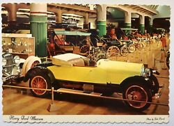 Henry Ford Museum Dearborn Michigan Automobile Collection Postcard
