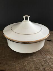 Noritake Gold And Platinum Round Covered Vegetable Bowl 7713 Serving Dish