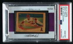 2013 Topps Silk Collection /50 Mike Trout Psa 10
