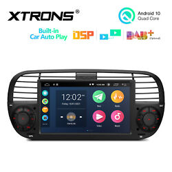 7 Android 10 2+32gb Car Stereo Radio Gps Dsp Rca 2-ui For Fiat 500 2007-2015