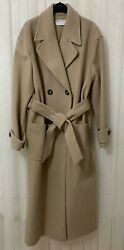Asos Design Luxe Tailored Belted Tie Military Boxy Pocket Long Wrap Winter Coat