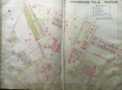 1914 Oakland Pittsburgh Pennsylvania Academy Of Our Lady Of Mercy Atlas Map