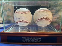 Signed Game Used Derek Jeter And Mariano Rivera Balls. Game Hit 3103 And Mo Alds Win