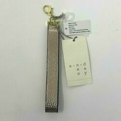 A New Day Wrist Strap for Wallets Small Bags Rose Gold Tone Faux Leather $7.95