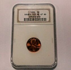 1995 Lincoln Cent Ngc-double Die Ms-67 Red