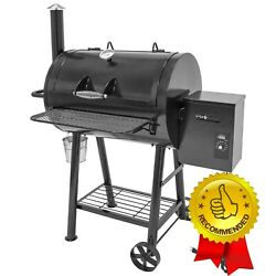 Electric Wood Pellet Smoker Grill Ceramic Coated Lcd Digital Control Bbq Outdoor