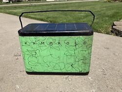 Vintage Green Kampkold Ice Cooler / Chest Mcm Airstream 1950andrsquos Usa Rare