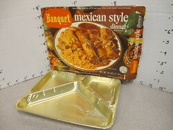 Banquet Tv Dinner 1960s Mexican Tamales Enchilada Vintage Frozen Food + Tray A