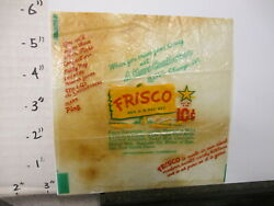 Candy Bar Wrapper 1940s Frisco Mars 2 Oz 10 Cents Chocolate Almonds