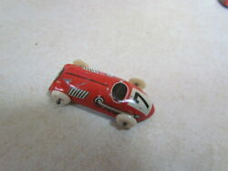 Vintage 1950's U.s. Zone Germany Tin Lithograph Small Race Car 7 Red