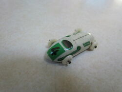 Vintage 1950's U.s. Zone Germany Tin Lithograph Small Race Car 4 White W/green