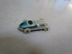 Vintage 1950's U.s. Zone Germany Tin Lithograph Small Race Car 4 White W/blue