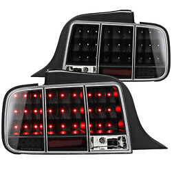 For 2002-2009 Mustang Led Tail Stop Light Sequential Black 05 06 07 08 09