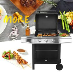 Stainless Steel Lpg Gas Grill Bbq Machine Grilling Home Restaurant Universal