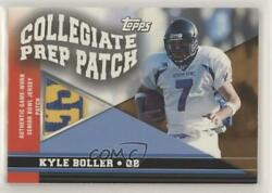 2003 Topps Draft Picks And Prospects Collegiate Prep /75 Kyle Boller Rookie Patch