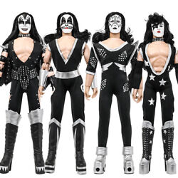 Kiss 12 Inch Action Figures Alive Re-issue Series Set Of All 4 [loose]