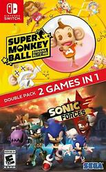 Sonic Forces and Super Monkey Ball 2in1 Double Pack Nintendo Switch BRAND NEW