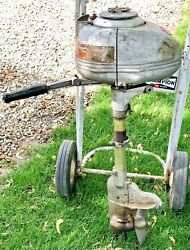 Antique 1950and039s Johnson Sea Horse 5 Hp 2 Cylinder Outboard Boat Motor Vintage Old