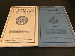 Lot Of 2 Ruth Webb Lee's Handbook Of Early American Pressed Glass Patterns