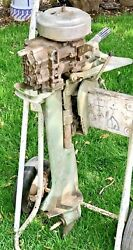Antique 1950andrsquos Firestone 5.0 Hp Outboard Boat Motor 10-a-102 For Parts Or Repair