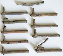 10 Total Civil War Relic Artillery Cannon Friction Primers Dug Southern Alabama