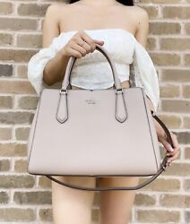 Kate Spade Tippy Medium Triple Compartment Satchel Leather Muted Taupe Leather $139.99