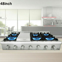 Thor Kitchen 6 Burners Range Stove Rangetop 48 Inch Stainless Steel Cooktop Usa