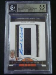 2009-10 Topps Russell Westbrook 2008 Rookie Photo Shoot Auto Gu Letter 3/7 Bgs