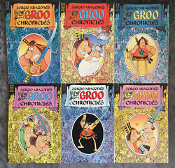 1989 Sergio Aragones 'the Groo Chronicles' Complete - Books 1,2,3,4,5 And 6