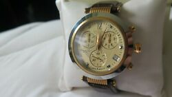 Kenneth Cole Ks1024 Rose Gold Chronograph Dress Watch Discontinued