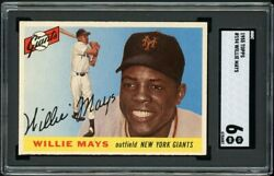 1955 Topps Willie Mays 194 Hi No. Sgc 6 Ex-nm Out-of-the-pack Fresh And Authentic