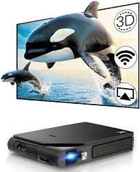 Full Hd Travel Size Dlp 3d Projector Wifi 1080p Movie Miracast Airplay Hdmi Us