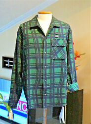 Off White Flannel Button Down Long Sleeve Shirt L