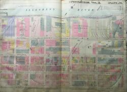 1914 Pittsburgh Pa Carnegie Steel Company 28th-32nd St And Liberty Ave Atlas Map