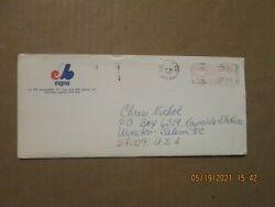 Mlb Montreal Expos Vintage Defunct Dated 1986 Team Logo Business Envelope