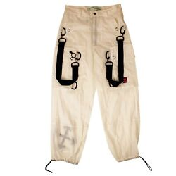 Nwt Off-white C/o Virgil Abloh Ivory 'buckle' Cargo Pants Size 32 1750