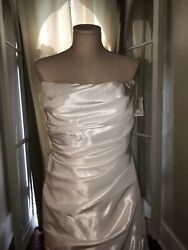 New With Tags David's Bridal White Wedding Dress Size 16