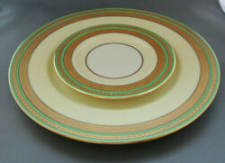 12 Lenox For And Co. And Lenox For Marshall Field And Co Gold/green Plates