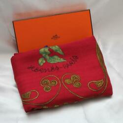 Authentic Hermes Carre 140 Arabesque Scarf Cashmere Silk Free Shipping No.659