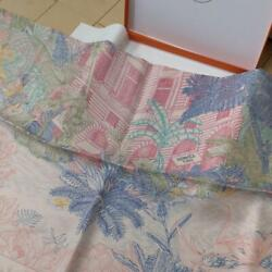 Authentic Rare Tagged Hermes Kalewash Faible Tropical Scarf 90 No.803