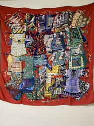 Authentic With Box Hermes Large Scarf 120cm Free Shipping No.823