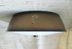 Vtg 50s 60s Atomic Spaceship Ufo Space Age Starlight Ceiling Light Fixture Mcm