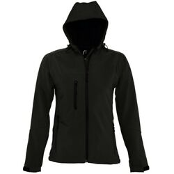Sols Womens/ladies Replay Hooded Full Zip Winter Casual Soft Shell Pc411